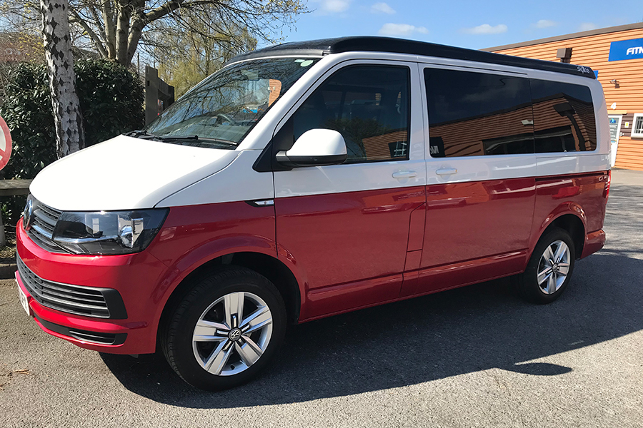 T6 VW Campervan Hire Exeter   Hire Our TF11 SUN Camper